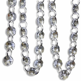 $enCountryForm.capitalKeyWord UK - 1611 Free shipping 66 FT Crystal Clear Acrylic Bead Garland Chandelier Hanging Wedding Decoration