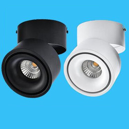 Chinese  Hot sales White Black Surface Mounted LED Downlight 15W 20W COB LED Spot Light for Clothes Store Shopping Mall Livingroom 1pcs manufacturers