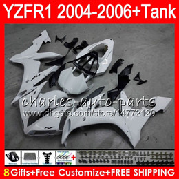 Silver black r1 fairing online shopping - 8Gift Color Body For YAMAHA YZF1000 YZFR1 YZF R1000 gloss white HM8 YZF R YZF YZF R1 YZF R1 Fairing kit