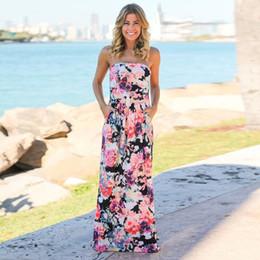 Women Sundress New Boho Dress Summer Off Shoulder Beach Maxi printing Dress  Summer Tunic Floor Length Long Dress Shirt Robe Femme Vestido long gold off  ... 6468a9a38