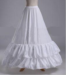 $enCountryForm.capitalKeyWord Australia - 2017 New Arrival Petticoats White 2 Hoops 2 Layers Long Bride Formal Dress Underskirt Crinoline Plus Stock Wedding Accessories