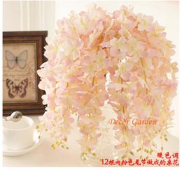 $enCountryForm.capitalKeyWord Canada - 30PCS Artificial Hydrangea Wisteria Flower For DIY Simulation Wedding Arch Square Rattan Wall Hanging Basket Can Be Extension fv02