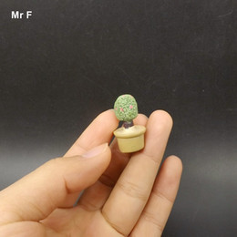 Wholesale Resin Plants Craft Mini Simulation Succulents Models Garden Miniatures Potted Plants Ornament Toy Kid Figurines Perceive Learning Game