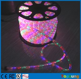 100m spool chasing led rope light 12v 24v 3 wire round rgby duralight strip flexible color changing christmas with controller 12mm
