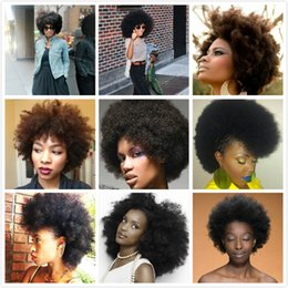 Wholesale 8a Brazilian Remy Afro Kinky Virgin Hair Brazilian Short Natural Black Kinky Curly Afro Curl Human Hair Weave quot quot