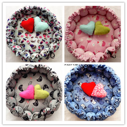 free beds Canada - Free shipping new style pet dog puppy cat bed pumpkin house kennel cat cute 10 styles choose +free gifts heart pillow+cotton toy