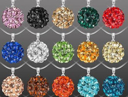 $enCountryForm.capitalKeyWord NZ - 10mm mix multicolor 18 inch men women Snake lowest price Fashion jewelry Crystal Disco Balls Shamballa Necklace pendants Chains n4254