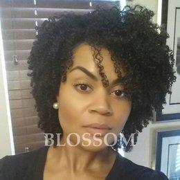 $enCountryForm.capitalKeyWord NZ - Short Kinky Curly Human Hair Wigs 100% Human Hair Wig Natural Looking Short Afro Kinky Curly Wigs for Black Women Black