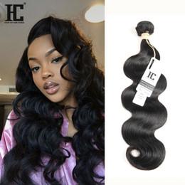$enCountryForm.capitalKeyWord Canada - HC Hair Brazilian Peruvian Indian Malaysian Human Hair Extensions Body Wave Brazillian virgin Hair Weave 1 Bundle 100g Human Weave