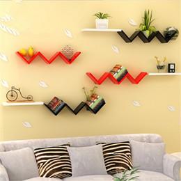 2017 New Arrive W Type Books Shelves Wall Hanging Shelf Bedroom Goods Storage Holder Living Room Wood Craft Home Decor On Sale