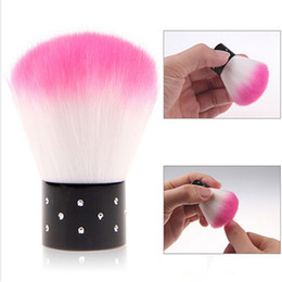 Barato Uv Esmaltes De Rosa Quente-Atacado- 1 Piece Hot Pink Nail Brush Para Acrílico UV Gel Nail Polish Art Decor Nails Dust Cleaner Arte Nail Tools