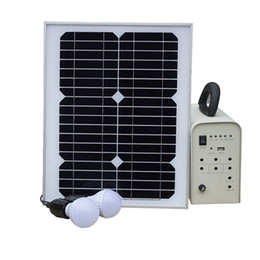 Chinese  Indoor Solar Electrical Power Generating System 18v 20W Solar Panel Light Bulb for Home Emergency manufacturers