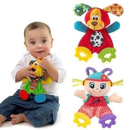 Опт Wholesale- 2017 Children Kids Cute Infant Newborn Baby Doll Toys Appease Towel Teether Developmental Toys