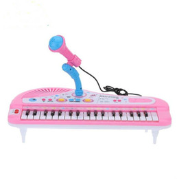 37 Keys Electone Mini Electronic Keyboard Musical Toy with Microphone Educational Electronic Piano Toy for Children Kids Babies