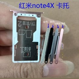 sim card tray for note NZ - Wholesale- Original Dual SIM Holder Sim Tray For Xiaomi Redmi NOTE 4X Nano SIM 1 2 Micro TF Card Replacement Repair Parts