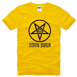 Design Tee Shirts Canada - New Design Dimmu Borgir T Shirts Men Cotton Short Sleeve Death Heavy Metal Rock Men's T-Shirt Summer Style Male Rock Tops Tees