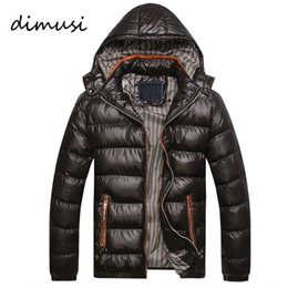 Barato Roupas Grossistas Masculinas Térmicas-Venda por atacado - 2016 New Arrival Men Winter Jacket Moda Hooded Thermal Down Cotton Parkas Masculino Casual Hoodies Brand Clothing Warm Coat PA064