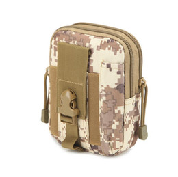 molle packs UK - 2017 D30 Molle Waist Bags Waterproof Men Casual Waist Pack nylon Work Waist Bag Army Military Small bags