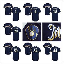 timeless design f1d4e f9251 milwaukee brewers rollie fingers 34 blue replica jersey sale