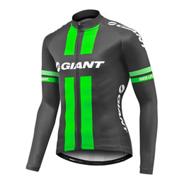 Giant Cycling Clothing Green Canada - Giant Pro Team Men's Cycling Jersey Long Sleeve Tour De France Bike shirt spring autumn bicycle Clothing ropa Ciclismo Invierno C3105