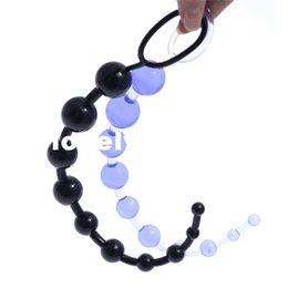 $enCountryForm.capitalKeyWord NZ - 13 Inch Oriental Jelly Anal Beads for Beginner Flexible Anal stimulator Butt Beads Best Anal Sex toys for men and women