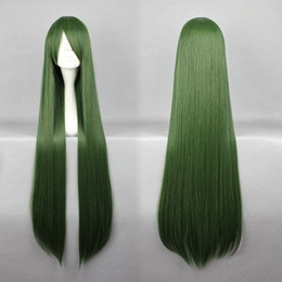 long dark green wigs UK - MCOSER New Style Touhou Project Mima 100cm Special Dark Green 100cm Long Straight Cosplay Wig Free Shipping