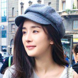 1d88874dfd3 Vintage Women Berets Wool Hat Fashion Warm Hats Winter Beret Caps For Lady  Outdoor Painter Cap 4 Colors Size 56-58CM