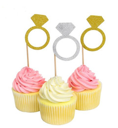 $enCountryForm.capitalKeyWord Canada - cake toppers ring dimond glitter paper cards banner for Cupcake Wrapper Baking Cup birthday tea party wedding decoration baby shower