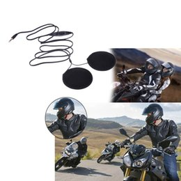 headphones helmets Canada - Motorcycle Helmet Speakers Earphone Headset MP3 CD Radio Speaker for Motorbike Helmet Headphone for MP3 MP4 GPS Cellphone