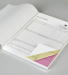 note books a5 NZ - Custom Triplicate Carbonless invoice book manifest sales receipt note storehouse Docket Receipt Quote NCR books