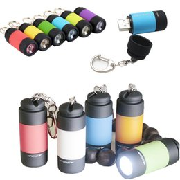 Divers flashlight rechargeable online shopping - usb Rechargeable Mini LED Flashlights Mini LED Torches Pocket Charger Lamp Keychain Lights small size