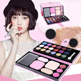 Lip Palettes Canada - Wholesale- 25Colors Makeup Palette Cosmetic Eyeshadow Blush Lip Gloss Powder Cosmetic Makeup Set JAN16