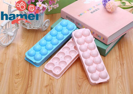 wholesale silicone trays NZ - Hot Selling BPA free square ice storage box shaped silicone ice cube tray for summer season
