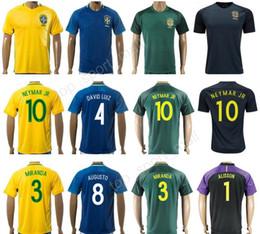 2018 brazil soccer jersey national team custom football shirt 10 neymar jr 19 willian 6 marcelo