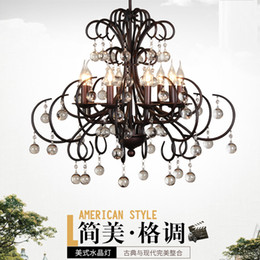 $enCountryForm.capitalKeyWord Canada - Clothing store living room coffee shop creative chandelier lights bedroom crystal iron simple study personality office coffee Pendant lamp