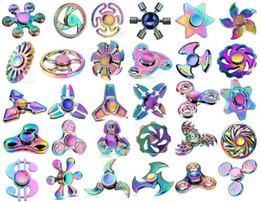 Zappeln Spinner Metall Spinner Regenbogen Zappeln Spinner Zappeln Spinner Regenbogen Farbe gemischte Modelle Depression Spielzeug Großhandel Freies Verschiffen