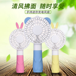 $enCountryForm.capitalKeyWord Canada - Charging mini hand-held fan portable USB fan Little rabbit handle fan Students small air-conditioning fans