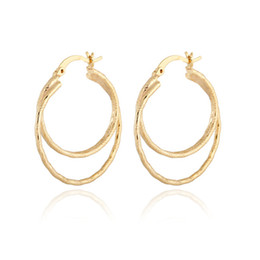 $enCountryForm.capitalKeyWord Canada - Big Earrings New Trendy High Quality 18K Real Gold Plated Fashion Jewelry Round Large Size Hoop Earrings for Women ER-914
