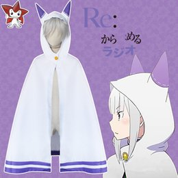 "$enCountryForm.capitalKeyWord Canada - Living in a different world from zero ""anime show clothes emilia cat ears shawl cloak Cosplay costume, free shipping"