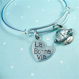 La braceLet online shopping - 12pcs La Bonne Vie Travel Silver Bangle Bracelet Adjustable Bangle Trendy Style