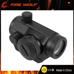 hunt holographic sight scope NZ - FIRE WOLF Red Dot 20mm Mount Pistol Scope Optics Riflex Hunting Riflescopes Red Dot Airsoft Air Guns Scopes Holographic Sight