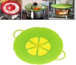 Boiling pan online shopping - Flower Petal Boil Spill Stopper Silicone Lid Pot Lid Cover Cooking Pot Lids Utensil Pan Cookware Parts Kitchen Accessories G114