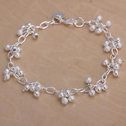 $enCountryForm.capitalKeyWord NZ - high quaity Hanging sand beads grape bracelet 925 silver charm bracelet 19cm DFMWB087,women's sterling silver plated jewelry bracelet