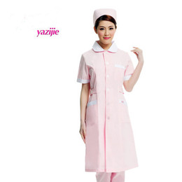 Nurses uNiforms suits online shopping - Artistry pure nurse short sleeved summer uniform drugstore beauty salon receptionist hairdressing suit white collar was opening overalls