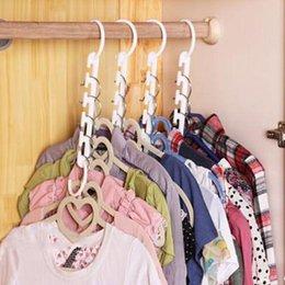 $enCountryForm.capitalKeyWord Canada - Novel 3D Space Saving Space Hanger cabide clothes hanger Hook New Hot Plastic Magical Hanger Clothes Storage Space Saving