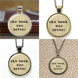 China 10pcs The Book Was Better Typewriter & Old Paper Necklace keyring bookmark cufflink earring bracelet cheap paper chain bracelet suppliers