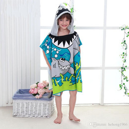 $enCountryForm.capitalKeyWord Australia - Bath Towel Kid Baby Wearable Micro Fiber Multi Style Cartoon Print Hooded Cloak Infant Blanket Top Quality 14bl KK