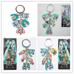 Classic Alloy NZ - Wholesale! 5Set Classic Anime Hatsune Miku Metal Keychains fashion keychain Alloy Accessories Different Can pick