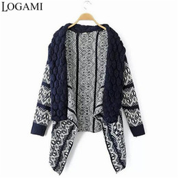 Gilet Para Mujer Baratos-Al por mayor-Mujeres Cardigan de manga larga suéter Pull Femme Mujeres Gilet Manche Longue suéteres Jersey Mujer Maglioni Donna Sueter Cardigans