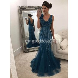 Open Dress Sexy Girls Images Canada - Elegant Black Girl Prom 2k17 Special Occasion Evening Dresses Scoop Major Beaded Open Back Hunter Formal Dress for Party Celebrity Gowns